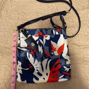 New Tommy Hilfiger Navy Print Handbag